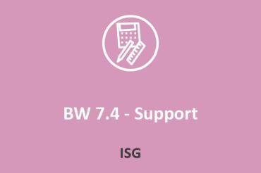 ISG - BW 7.4 - Support