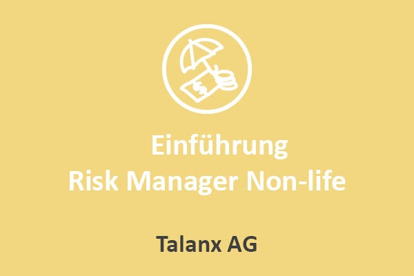 Talanx AG - Einführung Risk Manager Non-life