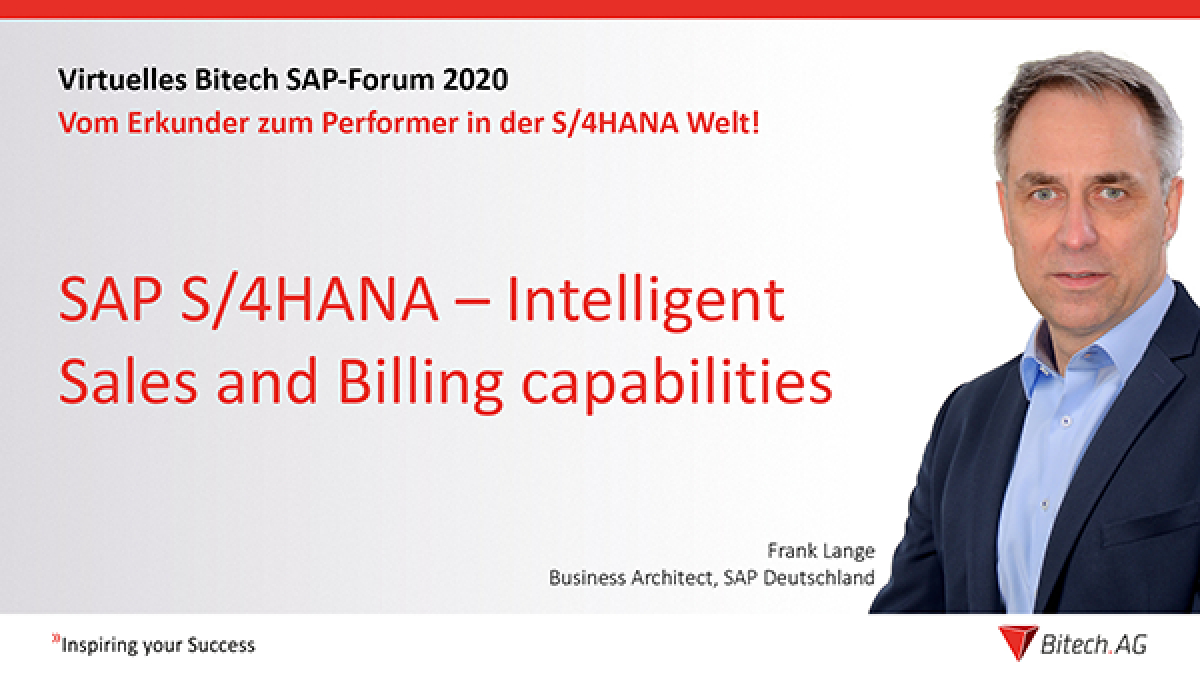 Webinar » SAP S/4HANA – Intelligent Sales and Billing capabilities