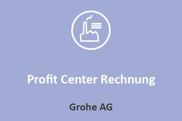 Grohe AG - Profit Center Rechnung