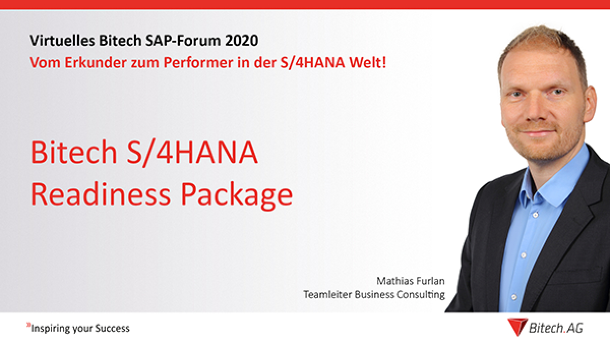Webinar » Bitech S/4HANA Readiness Package